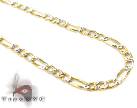 Figaro Diamond Cut Silver Chain 16 Inches, 3mm, 4.6 Grams Silver