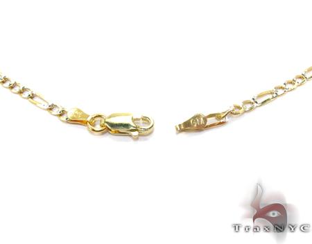 Figaro Diamond Cut Silver Chain 16 Inches, 3mm, 4.6 Grams Silver
