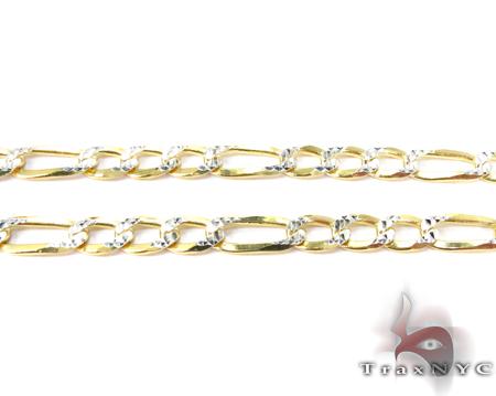 Figaro Diamond Cut Silver Chain 18 Inches, 4mm, 8.3 Grams Silver