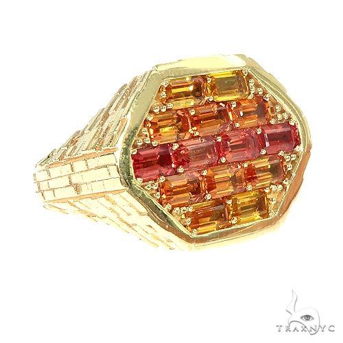 Fire Sapphire Brick Hexagon Ring 66768 Men Specials