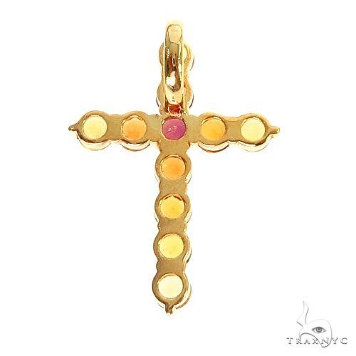 Fire Sapphire Cross Pendant 67005 Multicolor SAPPHIRE