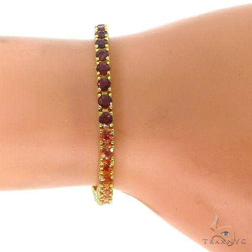 Fire Sapphire Tennis Bracelet 67050 Multicolor SAPPHIRE