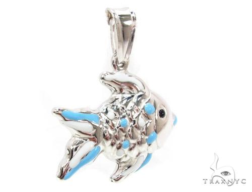 Fish Silver Pendant 36363 Metal