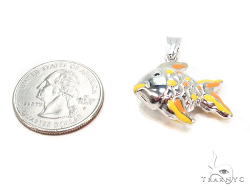 Fish Silver Pendant 36374 Metal