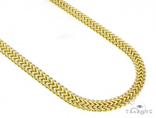 Flat Franco 14k Yellow Gold Chain 28 Inches 5mm 51.73 Grams 49522 Gold