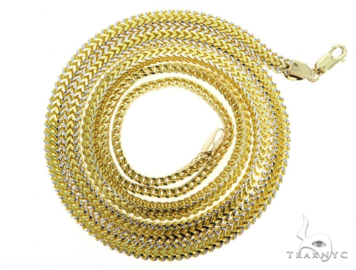 Flat Franco Gold Chain 24 Inches 5mm 44.43 Grams 49523 Gold