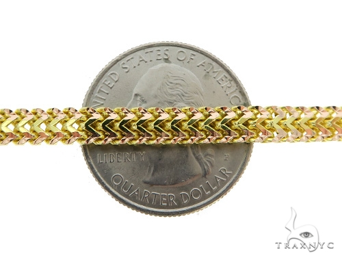 Flat Franco Gold Chain 26 Inches 5mm 48.07 Grams 49524 Gold