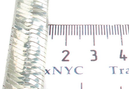 Flat Silver Chain 18 Inches 14mm 61.20 Grams Silver