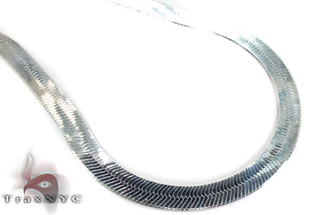 Flat Silver Chain 20 Inches 14mm 60.30 Grams Silver