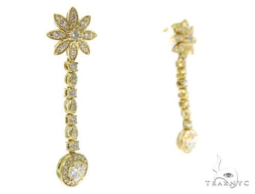 Floral Dangle Earrings 45441 Stone