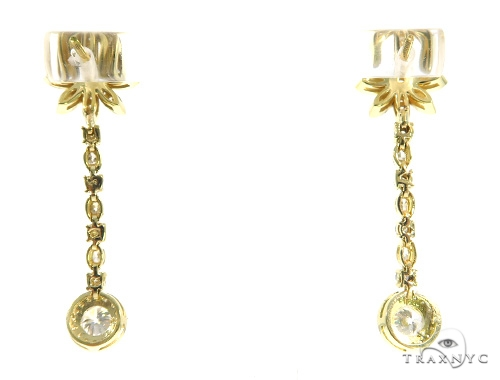 Floral Dangle Earrings 45441 Stone