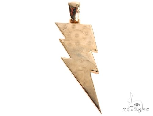 Flower Set Diamond Custom Lightning Bolt Pendant 64170 Metal