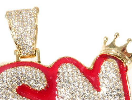 Flower Set Diamond Custom YSN Pendant 64201 Metal