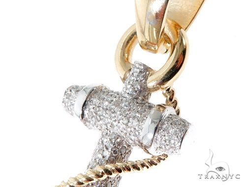 Flower Set Diamonds Anchor Charm Pendant Metal