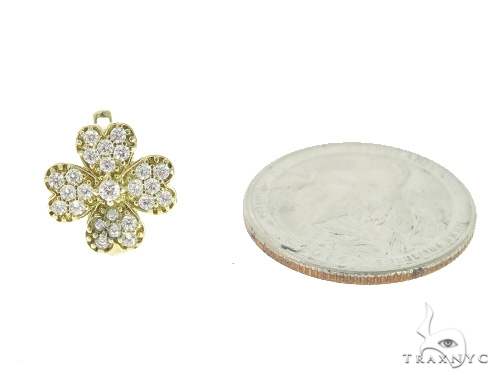 Four Leaf Clover Gold Hoop Earrings 49817 Metal
