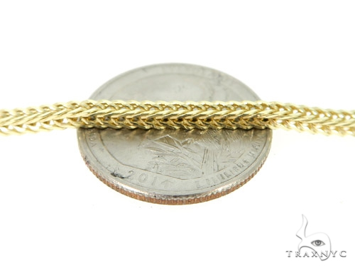 Foxtail 10k Yellow Gold Chain 24 Inches 2.5mm 18.90 Grams Gold