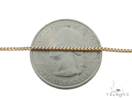 Franco 10k Rose Gold Chain 24 Inches 1mm 4.8 Grams 49831 Gold