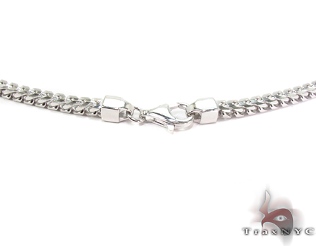 Franco White Silver Chain 30 Inches, 4mm, 88.5Grams Silver