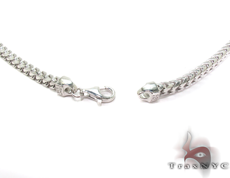 Franco White Silver Chain 30 Inches, 5mm,115.8Grams Silver