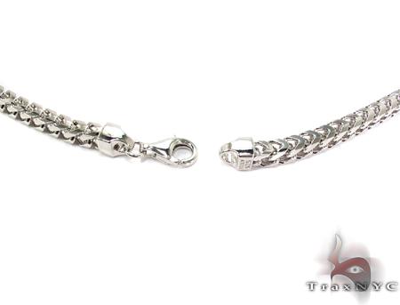 Franco White Silver Chain 30 Inches, 5mm,142 Grams Silver
