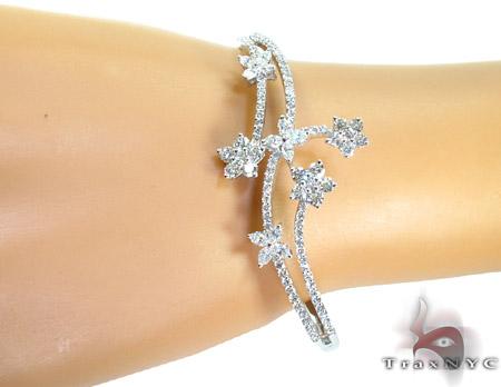Fresh Flowers Diamond Bangle Bracelet Diamond
