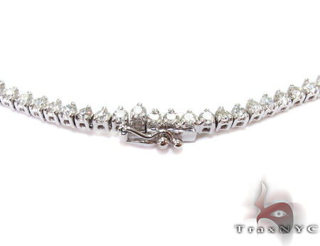Freshwater White Gold Diamond Ladies Necklace Diamond