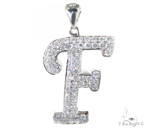Frozen Initial F Pendant 4986 Metal