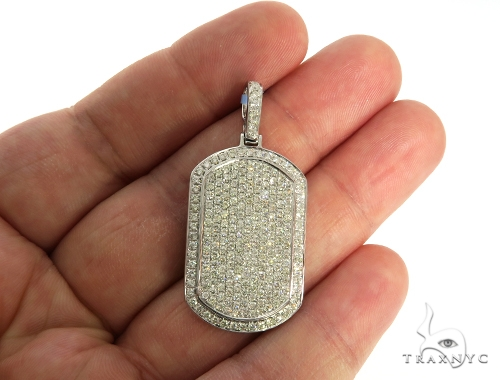 Fully Iced Diamond Dog Tag Pendant 58609 Style