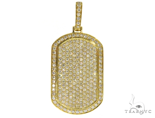 Fully Iced Diamond Dog Tag Pendant 58610 Style