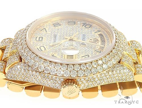 Fully Iced Out Day-Date Rolex Presidential Watch 65476 Diamond Rolex Watch Collection