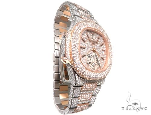 Fully Iced Two Tone Patek Philippe Watch Model 5980 64104 Special Watches