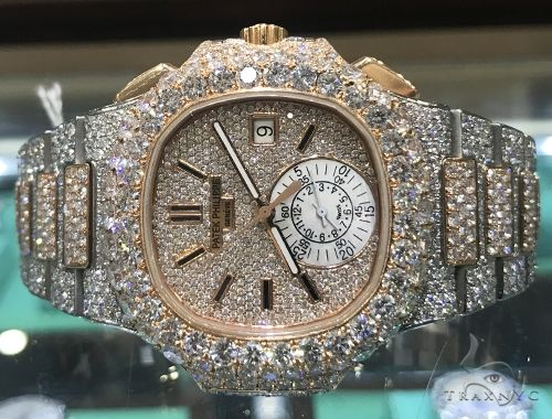 Fully Iced Two Tone Patek Philippe model 5980 Special Watches