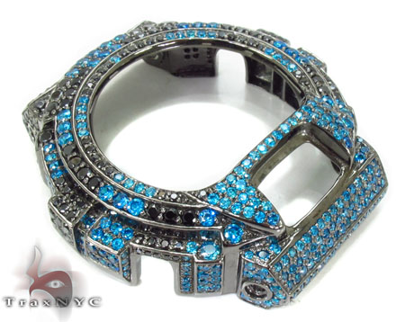 G-Shock Black and Blue Color CZ Case G-Shock