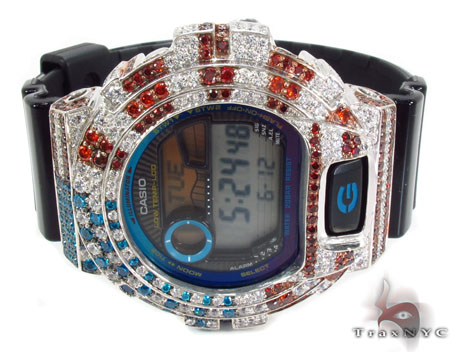 G-Shock G-Lide Tide Moon Data Watch GLX6900-1 with American Flag Case G-Shock