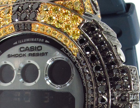 G-Shock Metal-like finish Watch DW-6900HM-2 with Racing Stripes Case G-Shock