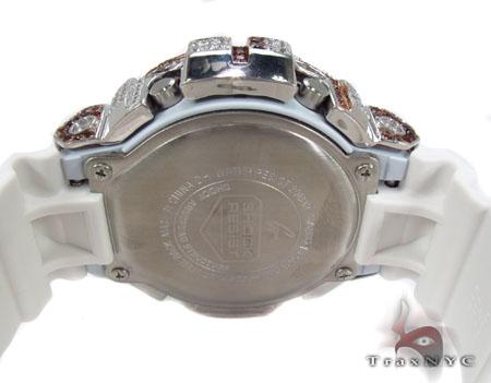 G Shock Mirror Metallic Vintage Metal White Watch DW-6900MR-7 with American Flag Case G-Shock