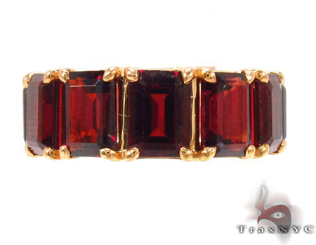 Custom Flawless Red Garnet Band Anniversary/Fashion