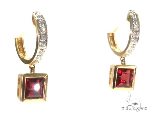 Gemstone Diamond Earrings 44751 Stone
