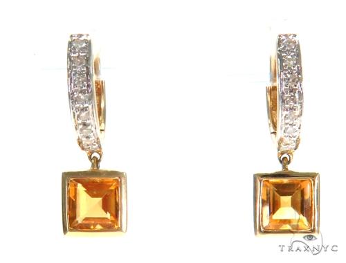 Gemstone Diamond Earrings 44804 Stone