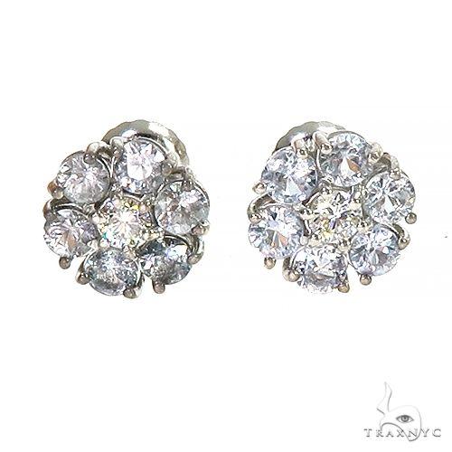 Glacier Sapphire Diamond Flower Earrings 66946 Multicolor SAPPHIRE