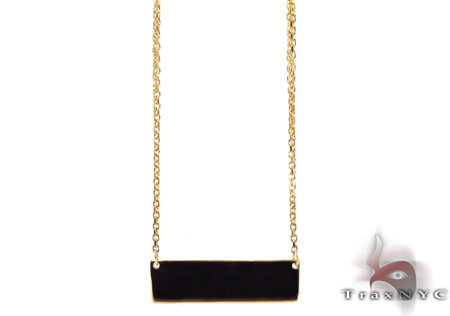 Glossy Gold Necklace Gold