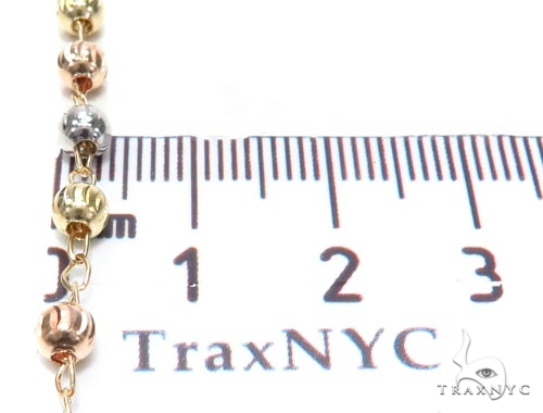 Gold Cross Rosary Chain 28 Inches 4mm 10.7 Grams 42543 Gold