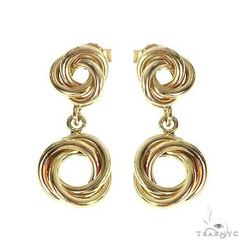 14K Yellow Gold Knot Earrings1 66674 Metal