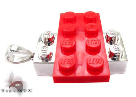 Gold Lego Pendant Metal