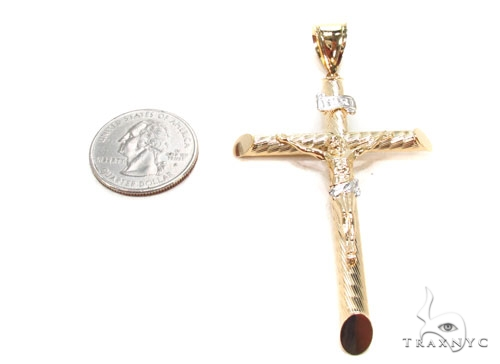 Gold Over Silver Cross 36495 Silver