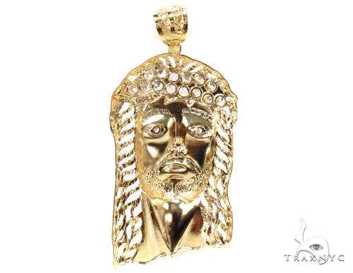 Gold Over Silver Jesus Pendant Metal