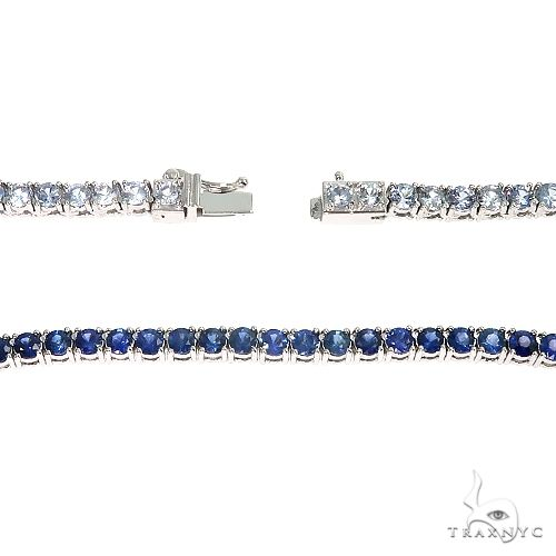 Graduated Sapphire Water Chain 66819 Gold