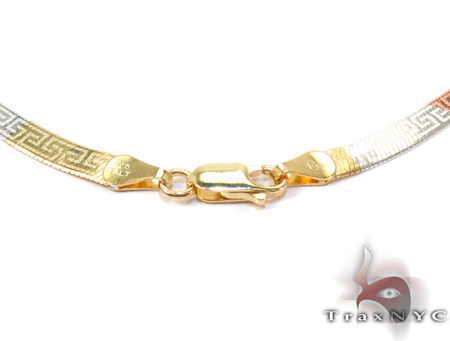 Greek Pattern Chain 20 Inches, 4mm, 10.2 Grams Silver