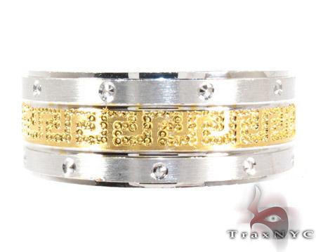 Mens Cheap Greek Patterned Sliver Ring Metal