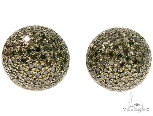 Green Berry Micro Pave Diamond Stud Earrings Stone